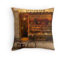 Boulangerie & Bike Throw Pillow