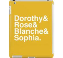Golden Ladies_Classic White iPad Case/Skin