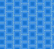 Geometric Blue by juststickit