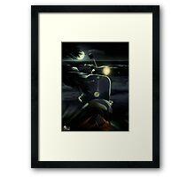 Vespa noche Framed Print
