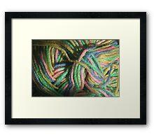 Multicolored Yarn Framed Print