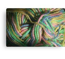 Multicolored Yarn Canvas Print