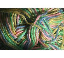 Multicolored Yarn Photographic Print
