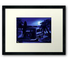 Retro playa noche Framed Print