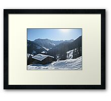 Snowy shed Framed Print