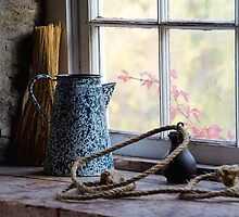 At the Mill Window in Black Creek Pioneer Village by Gerda Grice