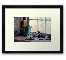 At the Mill Window in Black Creek Pioneer Village Framed Print