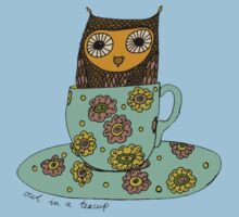 Owl in a teacup Baby Tee