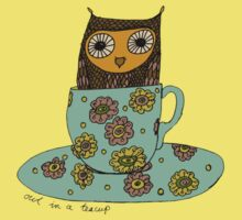 Owl in a teacup Kids Clothes