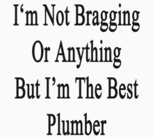 I'm Not Bragging Or Anything But I'm The Best Plumber  by supernova23
