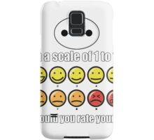 Toon Quote : Big Hero 6 - On a scale of 1 to 10, how would you rate your pain? Samsung Galaxy Case/Skin