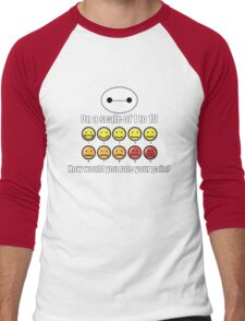 Toon Quote : Big Hero 6 - On a scale of 1 to 10, how would you rate your pain? Men's Baseball ¾ T-Shirt