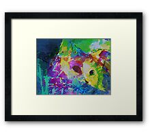 Cat communing with nature Framed Print