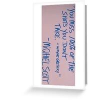 michael scott Greeting Card