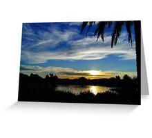 Sunset, Fairways, Craigieburn  Greeting Card