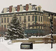 Downtown Sandusky Ohio - Winter by SRowe Art