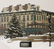 Downtown Sandusky Ohio - Winter by SRowe Art