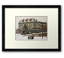 Downtown Sandusky Ohio - Winter Framed Print