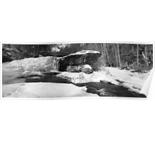 Iced-Over Waterfall Panorama #01 Poster