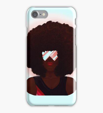 Garnet Crystal Gems Realistic Portrait iPhone Case/Skin