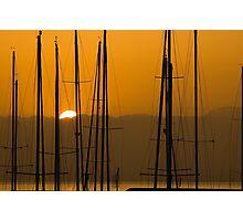 Masts at Dawn Photographic Print