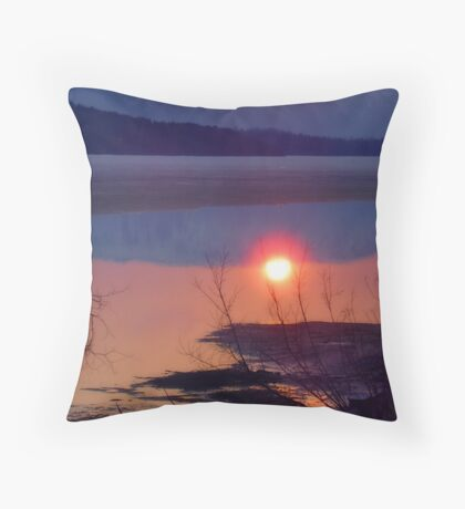 Glow in Water Throw Pillow