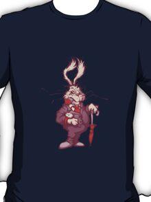 White rabbit with clock T-Shirt