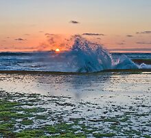 St Paul's beach at red dusk low tide, Sorrento by RyePixels