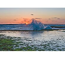 St Paul's beach at red dusk low tide, Sorrento Photographic Print