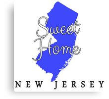 New Jersey Sweet Home New Jersey Canvas Print