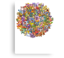 Pokemons Canvas Print