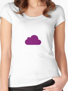 Welcome to Night Vale Glow Cloud Women's Fitted Scoop T-Shirt