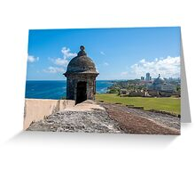 Castillo de San Cristobal. Greeting Card