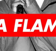 Travi$ Scott 'The Prayer' - BW/La Flame Sticker