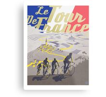 Le Tour de France retro poster Metal Print