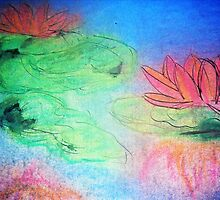 Lumonecent Water Lillies  by Lathecreator