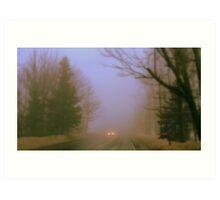 Foggy Morning Drive Art Print
