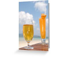 Tropical Couple Greeting Card