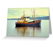 The Boat of Primary Colours Greeting Card