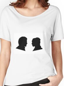 Jaime and Cersei Lannister Silhouette Profiles Women's Relaxed Fit T-Shirt