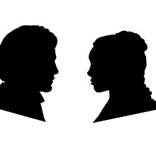 Jaime and Cersei Lannister Silhouette Profiles by kathmorrissey