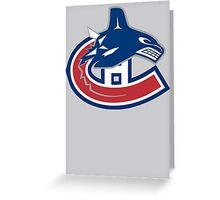 Vancouver Canucks - Montreal Canadiens Logomash Greeting Card