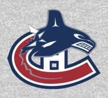 Vancouver Canucks - Montreal Canadiens Logomash by Phneepers