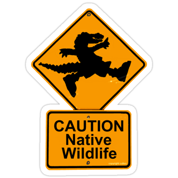 Crocodile rock roadsign by wick