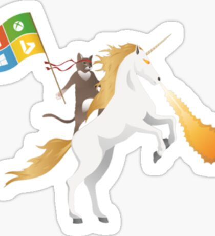 Ninja Cat Unicorn Sticker