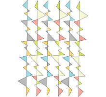 Retro Triangles Photographic Print