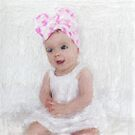 Little Miss With Pink Polka Dots by RobynLee