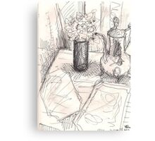 FLOWERS IN A TALL GLASS(C2013) Canvas Print