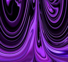 Purple Ribbon Flow Art by Adri Turner