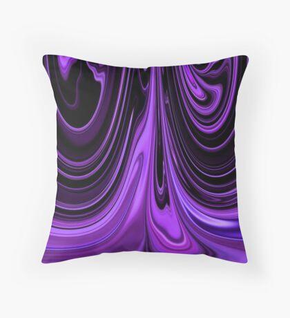 Purple Ribbon Flow Art Throw Pillow